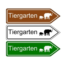 Direction sign zoo vector