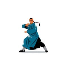 Shaolin monk veector sign vector