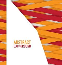 Geometric ribbon background vector image