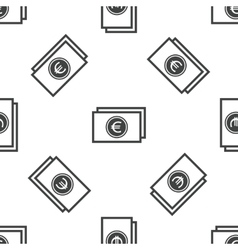 Euro bill pattern vector