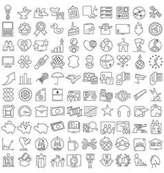 Miscellaneous thin line icons set vector