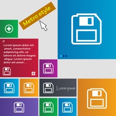 Floppy disk icon sign buttons modern interface vector