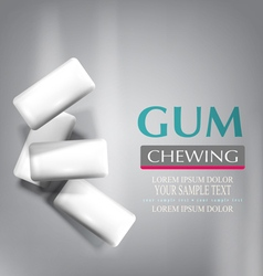 Chewing gum isolated on a gray background vector