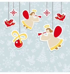 Abstract christmas ornate cute card vector