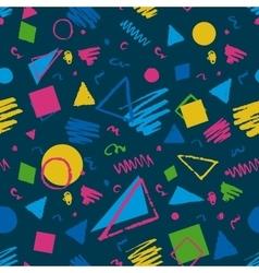 Dark blue geometric pattern vector image