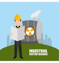 Industrial plant design vector