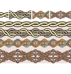 celtic weaving vector image