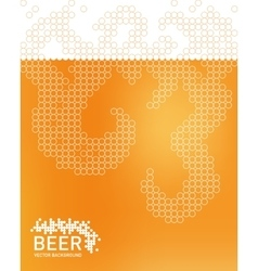 Beer foam background stylized bubble vector