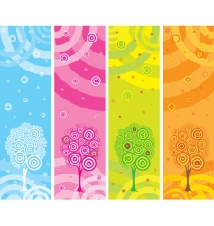 Set of four seasons banners vector