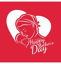 For happy mother day congratulation card vector