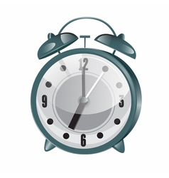 Retro Alarm Clock Metallic Vintage Clock vector image
