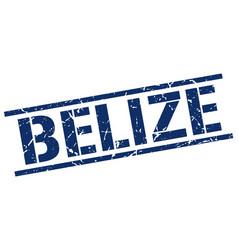Belize blue square stamp vector