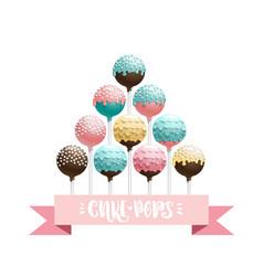 Cake pops set vector