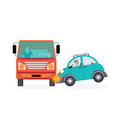 car crash accident car vector image