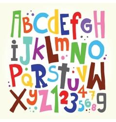 Cartoon font vector image
