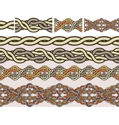 celtic weaving vector image vector image