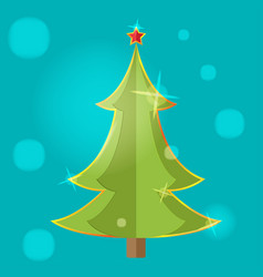 christmas tree symbol icon design vector image