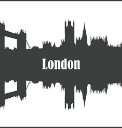 Contour of the city of London vector image