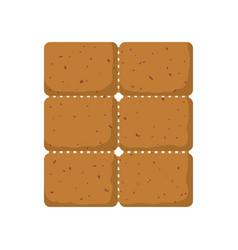cookie snack dessert vector image
