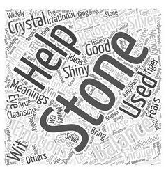 Crystal meanings s through z word cloud concept vector