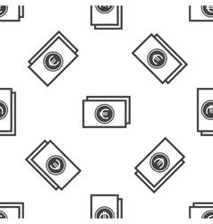 Euro bill pattern vector