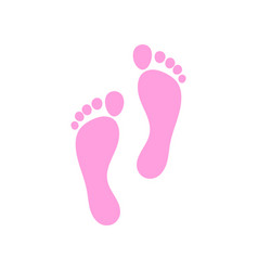 foot logo template vector image vector image
