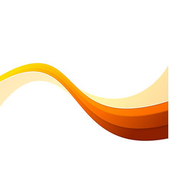 futuristic orange speed abstract swoosh wave vector image