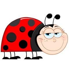 happy ladybug smiling vector image