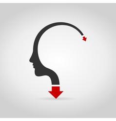 Head arrow3 vector image