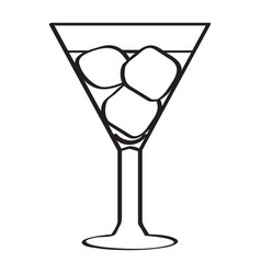 isolated cocktail sketch vector image