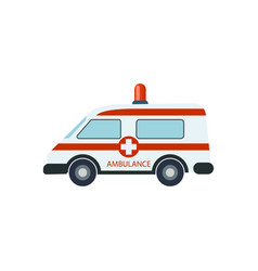 Medical ambulance car isolated vector