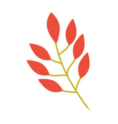 Orange leaves branch image vector