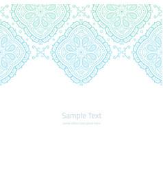 Ornate invitation template vector
