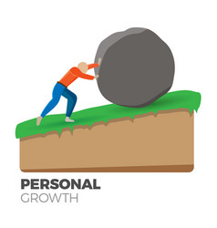 personal growth concept vector image