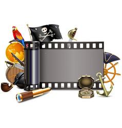 Pirate film vector