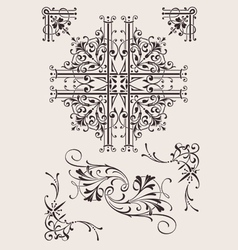 Set Of Ornate Design Elements vector image