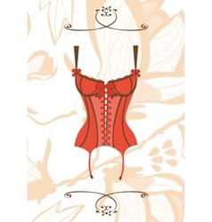 Sexy retro style corset vector image vector image