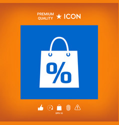 Shopping bag with the sale percent discount vector