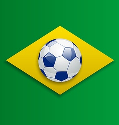 Soccer ball concept for brazil 2014 football vector