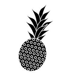 Sweet pineapple tropical fruit pictogram vector
