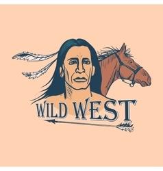 Wild west emblem vector