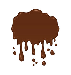 - brown splash liquid vector image