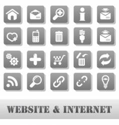 internet and website grey vector image