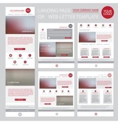 Modern website design template vector image