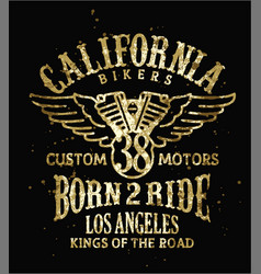 California bikers vector