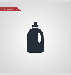 Cleaning bottle icon simple vector