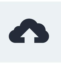 Cloud flat icon vector