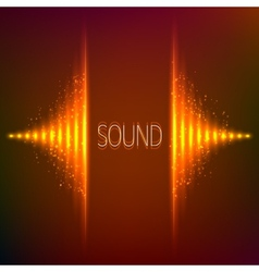 Orange neon stereo equalizer vector