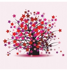 Starry tree fantasy vector