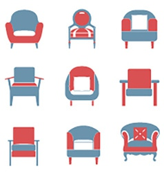 Sofas icons set duotone vector